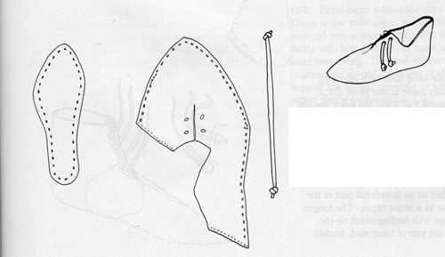 Как сшить средневековые ботинки 75